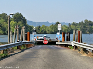 Image, 2012, Westport Slough Ferry Dock, Clatskanie, Oregon, click to enlarge
