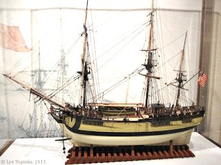 Image, 2013, Columbia Rediviva model, Columbia Gorge Discovery Center, click to enlarge