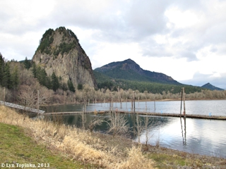 Image, 2013, Beacon Rock and Hamilton Mountain, Washington, click to enlarge