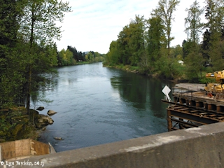 Image, 2013, Clackamas River at Carver, Oregon, click to enlarge