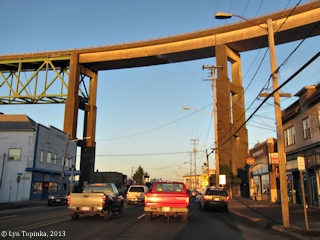 Image, 2013, Driving under the Astoria-Megler Bridge, from Astoria, Oregon, click to enlarge