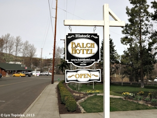 Image, 2013, Balch Hotel, Dufur, Oregon, click to enlarge