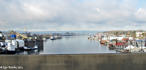 Image, 2013, North Portland Harbor from Interstate 5, Oregon, click to enlarge