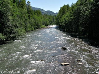 Image, 2013, Sandy River at Brightwood, Oregon, click to enlarge