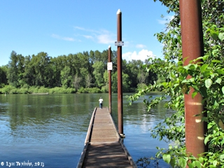 Image, 2013, Multnomah Channel from Sauvie Island Boat Ramp, Sauvie Island, click to enlarge