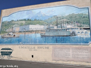 Image, 2013, Mural, Umatilla House, The Dalles, Oregon, click to enlarge