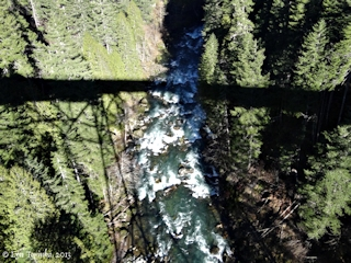 Image, 2013, Wind River from High Bridge, Carson, Washington, click to enlarge