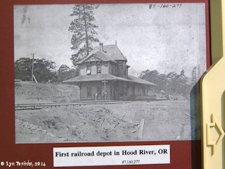 Image, 2014, First Hood River Depot, Hood River, Washington, click to enlarge