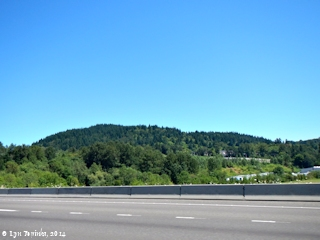 Image, 2014, Mount Talbert, a Boring Lava Cone, as seen from Interstate 205, click to enlarge