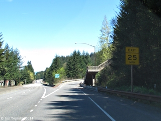 Image, 2014, Eagle Creek exit from Interstate 84, Oregon, click to enlarge