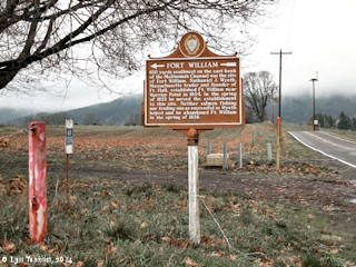 Image, 2014, Fort William sign, Sauvie Island, Oregon, click to enlarge
