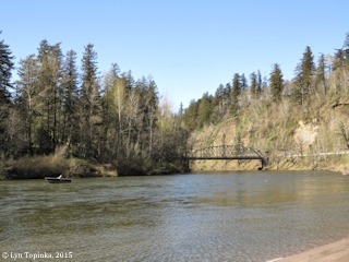 Image, 2015, Sandy River from Dabney State Rec Area, Oregon, click to enlarge