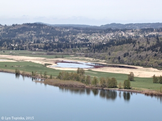 Image, 2015, Steigerwald Lake NWR from Historic Columbia River Highway, Oregon, click to enlarge