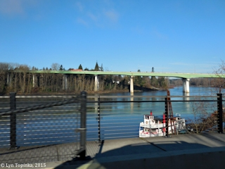 Image, 2015, Geo. Abernethy Bridge across Willamette River, click to enlarge