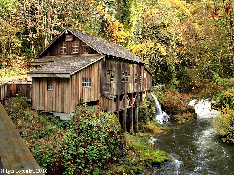 The Columbia River Cedar Creek Grist Mill Washington