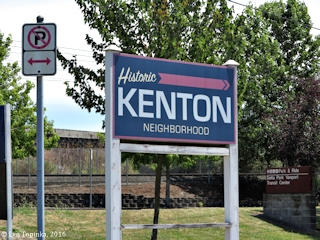 Image, 2016, Historic Kenton Neighborhood sign, Oregon, click to enlarge