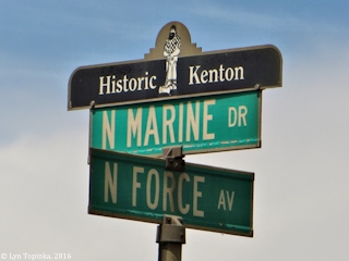 Image, 2016, Historic Kenton sign, Oregon, click to enlarge