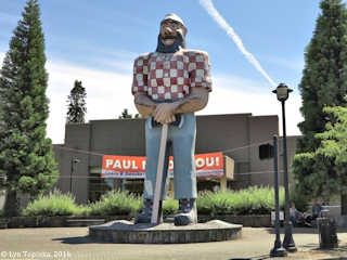 Image, 2016, Kenton's Paul Bunyan, Portland, Oregon, click to enlarge