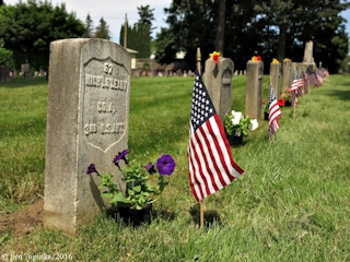 Image, 2016, Vancouver Barracks Post Cemetery, click to enlarge