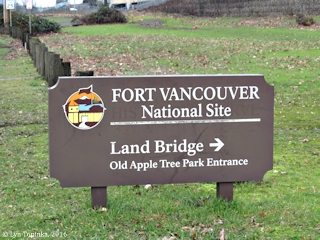 Image, 2016, Vancouver Land Bridge SIgn, click to enlarge