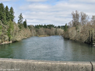Image, 2018, Cowlitz River at Toledo, click to enlarge