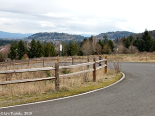 Image, 2018, Gresham Butte and un-named Butte from Powell Butte, Oregon, click to enlarge