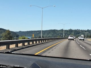 Image, 2018, Willamette River at Oregon City, Oregon, from Interstate 205, click to enlarge