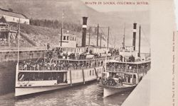 Penny Postcard, Cascade Locks, Columbia River