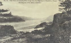 Penny Postcard, Columbia River from Chanticleer