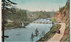 Penny Postcard, Sandy River Bridge, click to enlarge